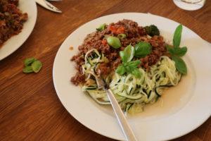 Squash-spagetti bolognese