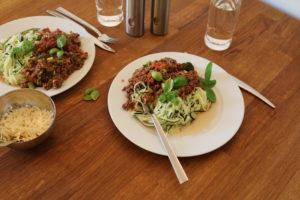 Squash-spagetti bolognese :-)