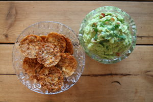 Taco chips med guacamole