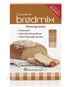 Familievennlig brødmix - glutenfri og lavkarbo