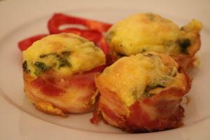 Egg og bacon - klar til nistepakka