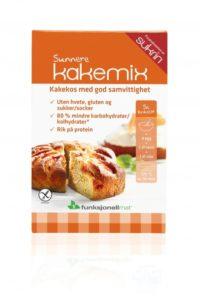 Sunnere kakemix - glutenfri og sukkerfri med redusert innhold av karbohydrater