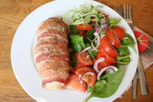 Fylt kylling med bacon